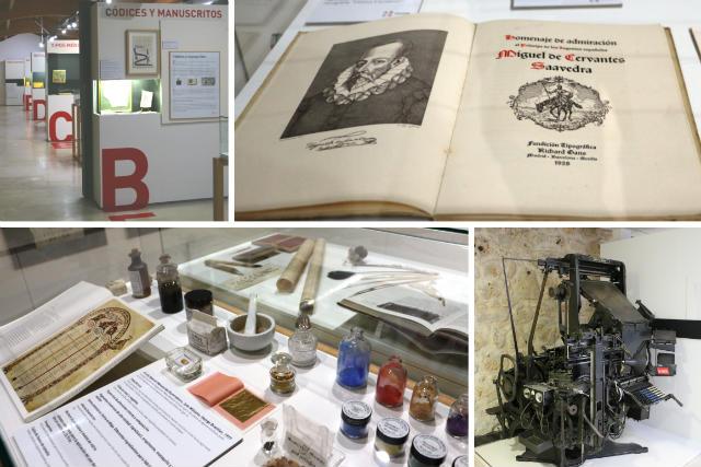 Diferentes partes de la exposición del Centro eLEAN Miguel Delibes de Urueña - Destino Castilla y León