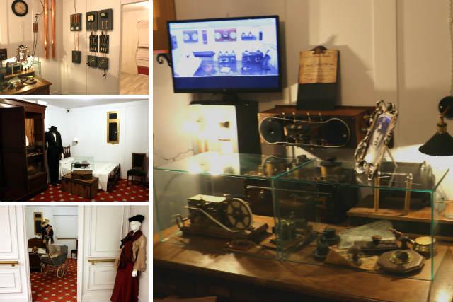 Recreación de la sala de radio del Titanic y habitaciones en el Museo de la radiotransmisión - Destino Castilla y León