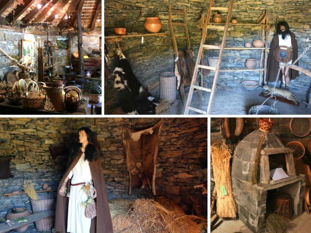 Contenidos de algunas pallozas del Centro de Interpretación del Castro de Chano - Destino Castilla y León