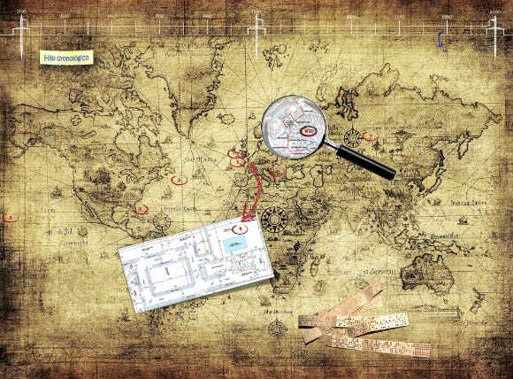 Mapa del Scape room del museo - Destino Castilla y León
