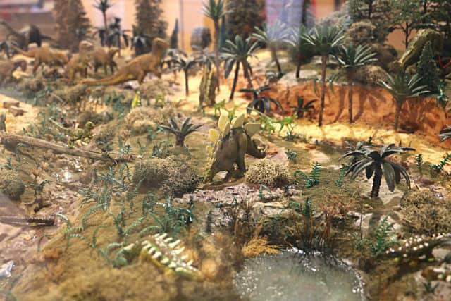 Maqueta que representa Salas de los Infantes hace 66 millones de años - Destino Castilla y León