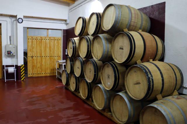 Algunas barricas de la Bodega Abdón Segovia - Destino Castilla y León