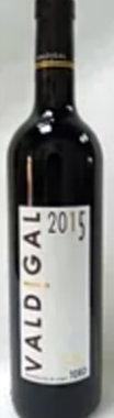 Botella de vino Valdigal 2015
