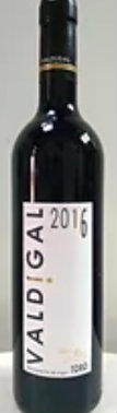 Botella de vino Valdigal 2016