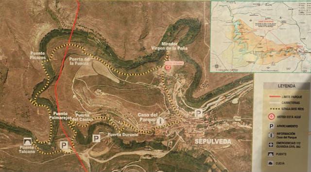 Cartel de la ruta de los Dos ríos - Destino Castilla y León