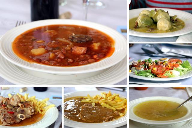 Platos del menú del día en Belorado - Destino Castilla y León