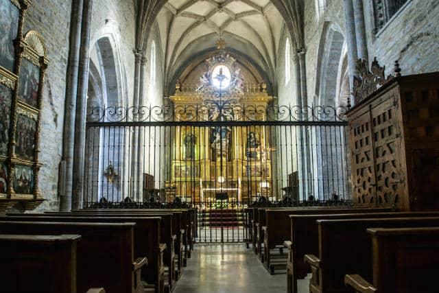 Interior de la Iglesia del Convento de la Bretonera - Imagen de turismo Belorado