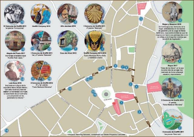 Mapa Walking Belorado - Pulsa para abrir en grande