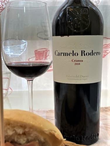Copa de vino Carmelo Rodero crianza 2018 - Destino Castilla y León