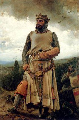 Retrato idealizado de Alfonso I el batallador, Rey de Pamplona y de Aragón – Imagen Wikipedia