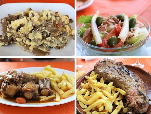 Platos de dos menús en el Bar-Restaurante la Avenida de La Adrada - Destino Castilla y León