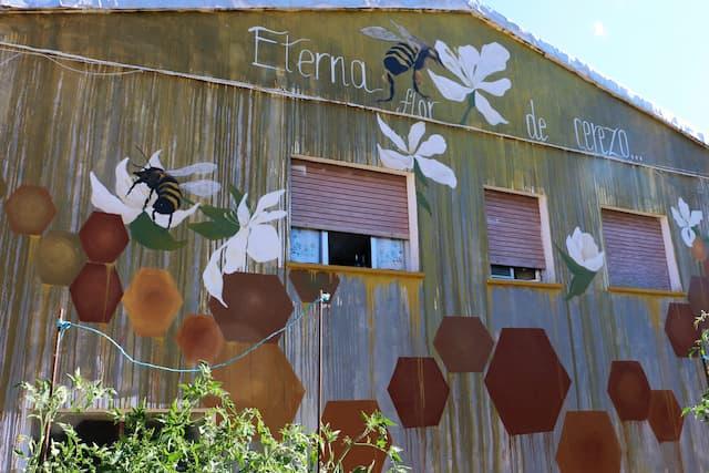 Mural de la miel, arte urbano de Garcibuey - Destino Castilla y León
