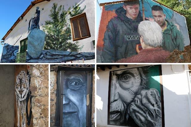 Murales de arte urbano en Garcibuey - Destino Castilla y León